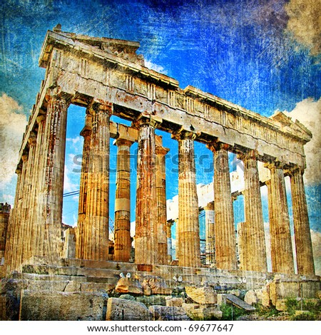 ancient acropolis   artistic...