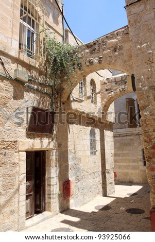 Ancient Alley in The Old City, Jerusalem