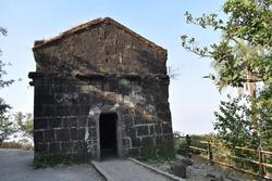Ancient ammunition store or Barud Khana at Sinhagad fort - Kondana, Pune, Maharashtra.
