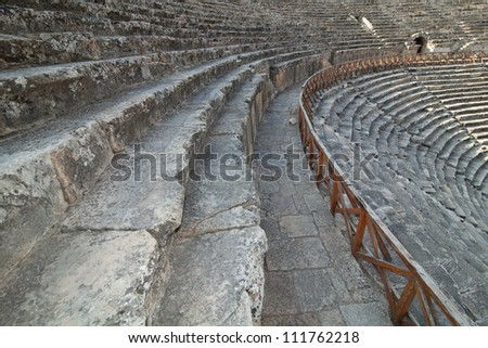 Ancient amphitheater in the Efes.  Turkey