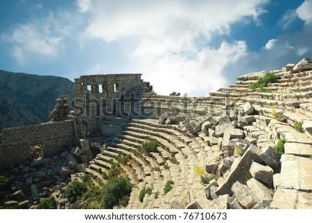 Ancient amphitheater in Turkey, Termessos