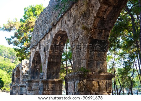 ancient aqueduct in Phaselis. Turkey. 2010