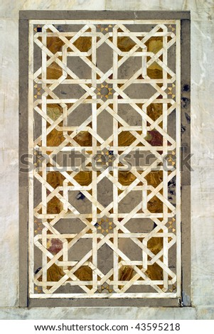 ancient Arabic Art inside the Omayyad Mosque in Damascus Syria