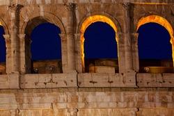 Ancient arches . Roman antique architecture