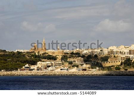 ancient architecture of gozo island in malta