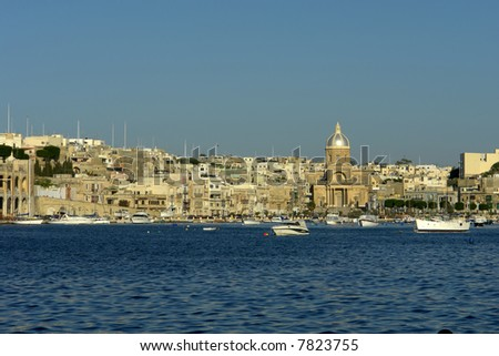 ancient architecture of malta island at the port