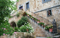 Ancient architecture of Tuscany (Italy). Tuscan villages and towns.