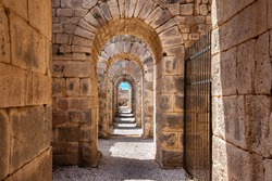 Ancient archway in Pergamon, Turkey
