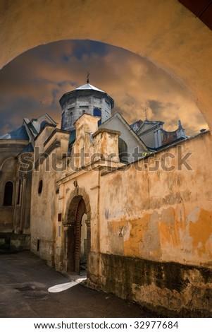 Ancient Armenian church  in Lvov. Ukraine