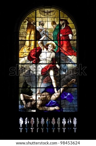 ancient art of Italy.Stained glass