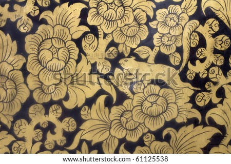 Ancient Art : Traditional Thai style painting art - stock photo