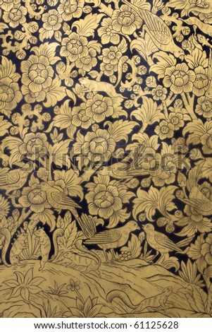 Ancient Art : Traditional Thai style painting art