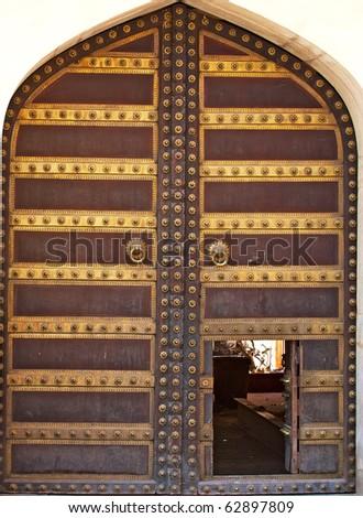 ancient art work door in India