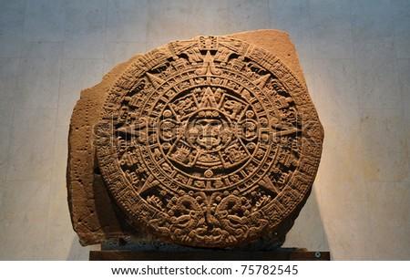 Ancient Aztec Calendar Stone