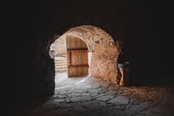 Ancient basement corridor