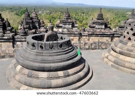 Ancient Bells Borobudur Temple, Yogyakarta, Java, Indonesia