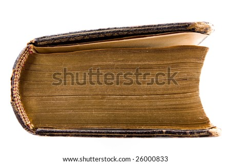 Ancient book isolated on a white