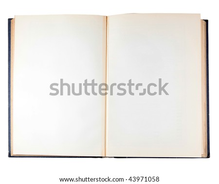 Ancient book isolated on a white background