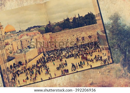 ancient book. western wall ...