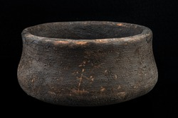 Ancient bowl bell-shaped. Bronze Age. Bell-Beaker culture.