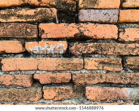 Ancient brick, the wisdom of the people in the past Has a rough and rough surface And the color of each cube is uneven But when put together, will make beautiful #1546888976