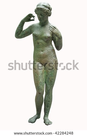 Shutterstock Ancient bronze statue of Venus isolated on white with clipping path