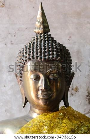 Ancient Buddha in Ayuthaya, Thailand