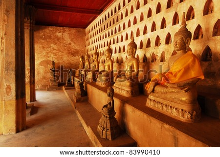 Ancient Buddha Statue,Vientiane ,Laos