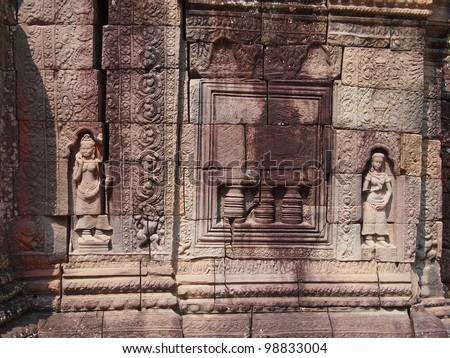Ancient buddhist khmer temple in Angkor Wat, Cambodia. Ta Som Prasat