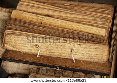Ancient Buddhist texts.