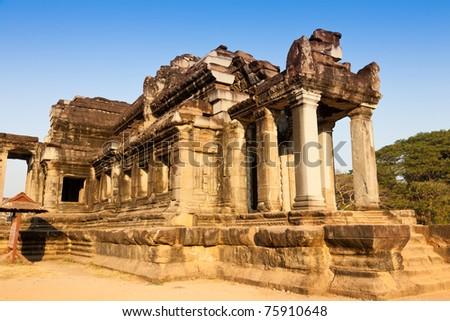 Ancient building in Angkor Wat, Cambodia.