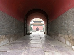Ancient building in Beiling Park – Chinese Qing Emperor Tomb  Shenyang