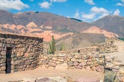 Ancient building, Pucara de Tilcara, Province of Jujuy, Argentina, Latin America