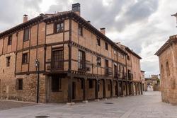 Ancient buildings in the streets of El Burgo de Osma, Soria, Castile and Leon, Spain, Europe