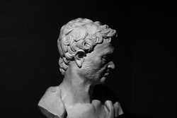 Ancient bust of prophet Jeremiah by Donatello