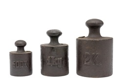 Ancient calibration weights.