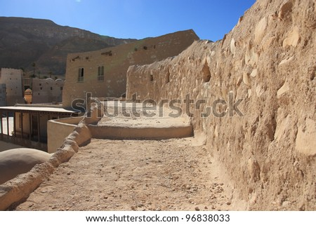 Ancient Christian monastery, one of the oldest in the world, Egypt, St. Antony's Christian Coptic Monastery (IV century).