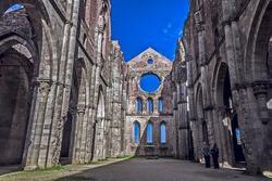 ancient church in italy san galgano