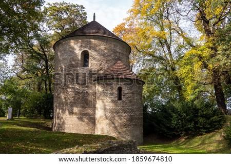 Ancient church of Kosciol sw. Mikolaja w Cieszynie, Rotunda Romanska in Cieszyn, Poland. Zdjęcia stock ©