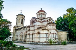 Ancient church of Saint John The Baptist in Kerch, Crimea. Building was founded in VIII century. This is classic example of Byzantine architecture
