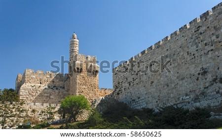 Ancient citadel and Tower of David in Jerusalem