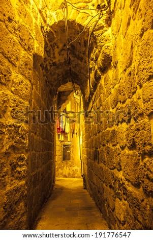 Ancient city Akko in Israel