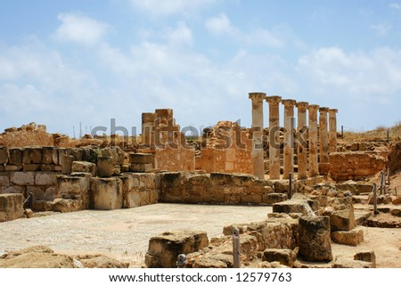 Ancient city near Paphos, Cyprus - stock photo