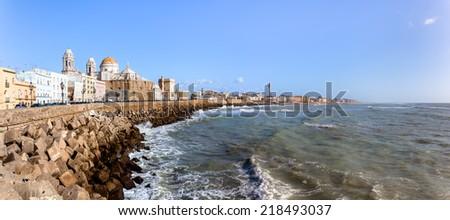 Ancient city of Cadiz (cadix) on the Spanish Atlantic coast in Andalusia