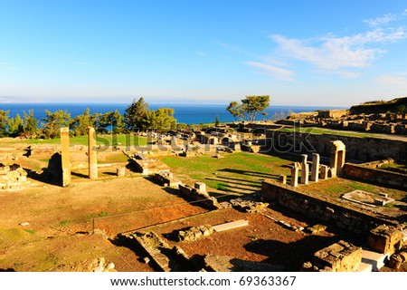 Ancient City Of Kamiros In Rhodes, Greece