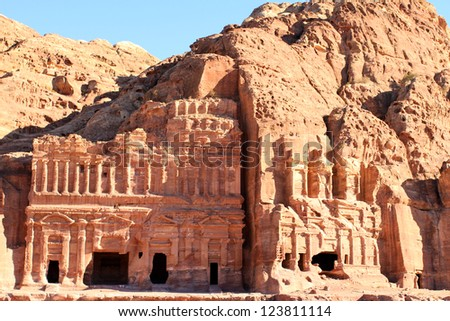 Ancient City of Petra Built in Jordan.