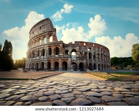Ancient Colosseum in Rome in the afternoon #1213027684