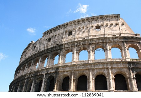 Ancient Colosseum, Rome, Italy - stock photo