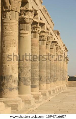 ancient columns of ancient egypt