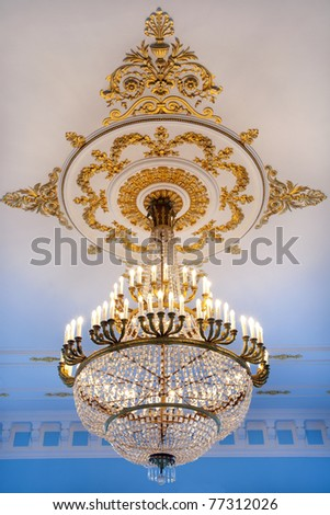 Ancient crystal chandelier